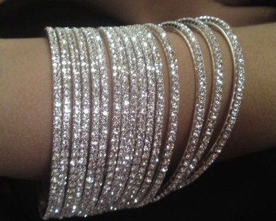 INDIAN SILVER BRIDAL JEWELLERY BANGLES