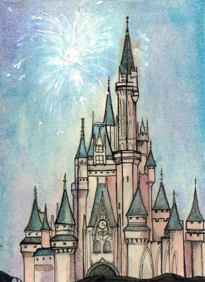 Sleeping beauty castle, I could really use an escape to my favorite la-la land right now.  sigh.