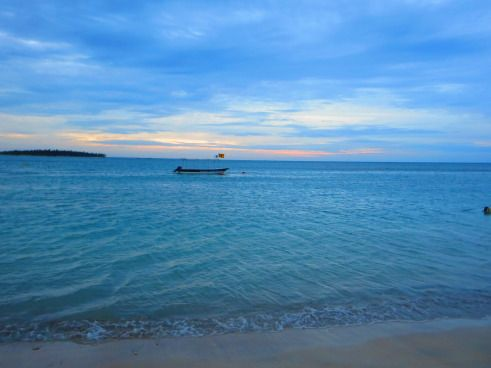 Passikudah, one of Sri Lanka's best beaches on the east coast. The ocean is so gentle and so shallow, you think you're in a swimming pool!