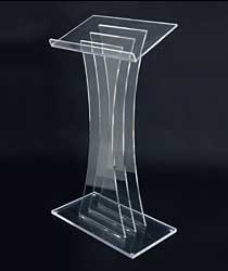 Clear Acrylic Podium - $150