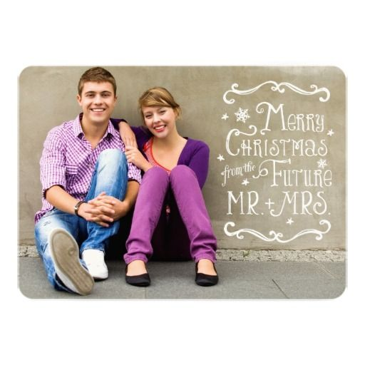 Future Mr. and Mrs. | customise with your own photo Christmas Photo Card Announcement Save the date Christmas engagement party, wedding shower or wedding reception