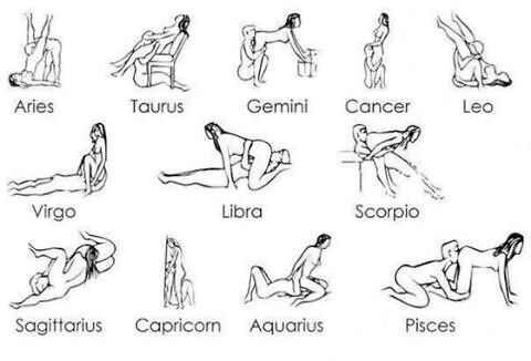 sex position based on zodiac signs
