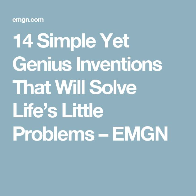 14 Simple Yet Genius Inventions That Will Solve Life's Little Problems – EMGN