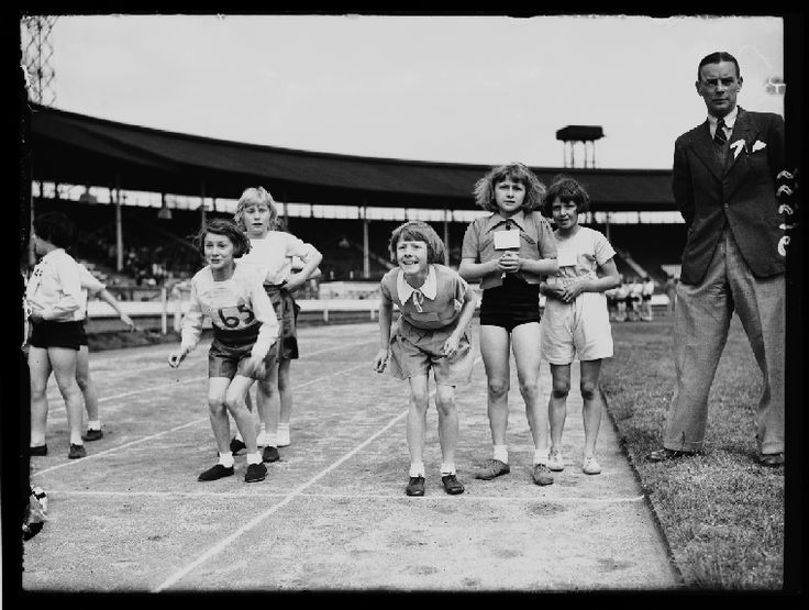 The Hammersmith schools annual athletics meeting, held at White City, London. June 1938. Photograph by George W Roper.