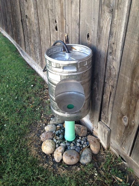 Outdoor Keg Urinal Would Work Fine Until Someone Dueced In It