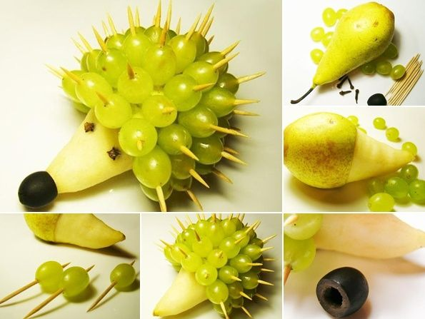 Time to Make This Funny Fruit Hedgehog