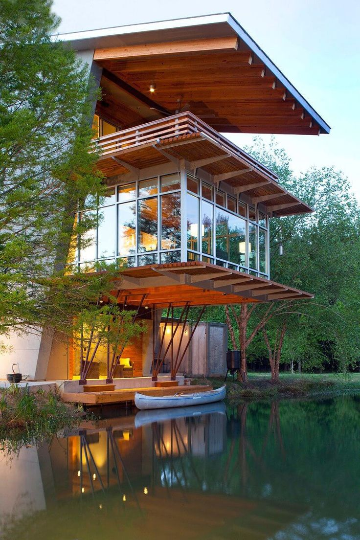 The Pond House at Ten Oaks Farm is a 1,250 square foot, net zero energy retreat located on a 15.5 acre site in Southeast Louisiana. The three-story...