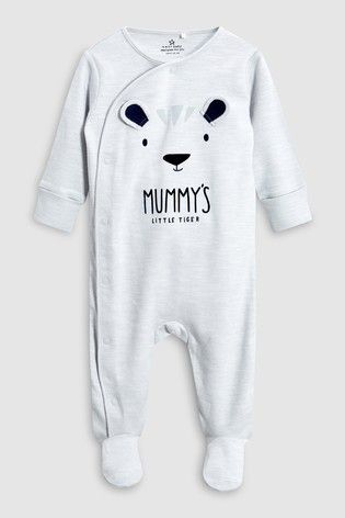 9d8a38c63 Grey/Blue Character Mummy And Daddy Sleepsuits Two Pack (0mths-2yrs ...