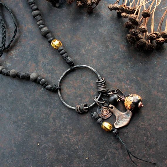 Norse amulet necklace Thor's hammer necklace protection