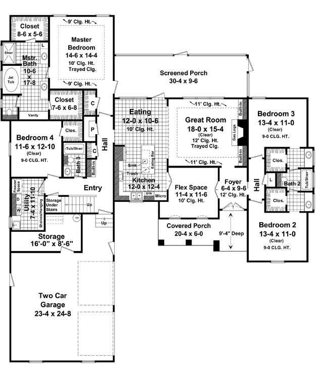 8 best images about floor plans on pinterest home plans for 4 bedroom house plans with bonus room