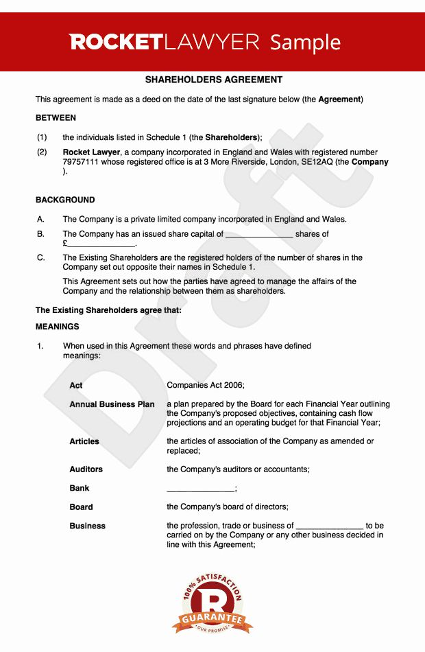 Equity Share Agreement Template Unique Free Holders Agreement Template Uk Lettering Marketing Plan Template Templates