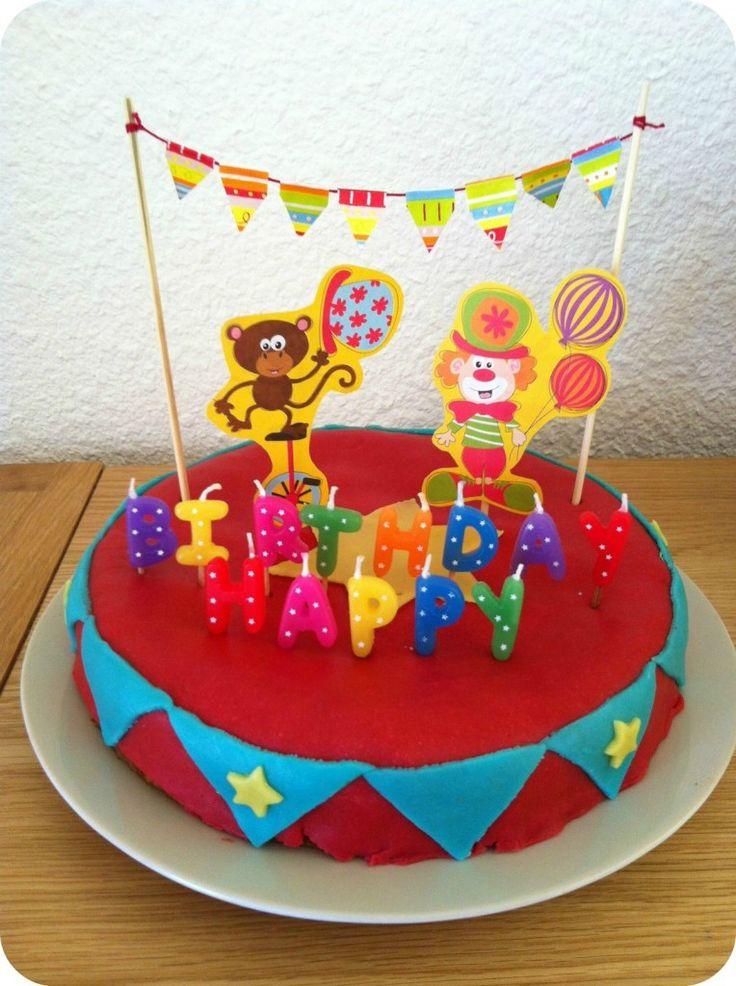déco gâteau cirque