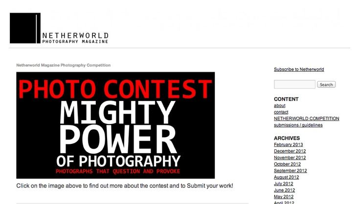 PHOTOGRAPHY CONTEST  THEME: MIGHTY POWER OF PHOTOGRAPHY: photographs that question and provoke.