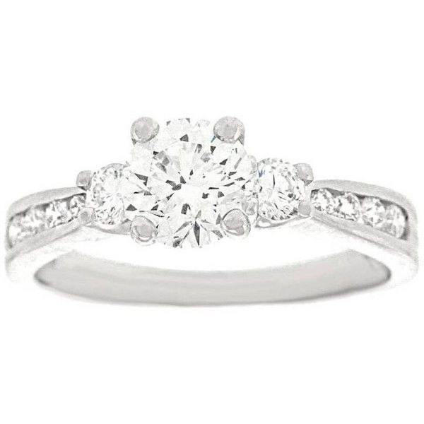 Preowned Beautiful 1.0 Carat Platinum Engagement Ring Gia (51 830 SEK) ❤ liked on Polyvore featuring jewelry, rings, engagement rings, multiple, preowned engagement rings, scott kay rings, scott kay jewelry, white engagement rings and preowned jewelry