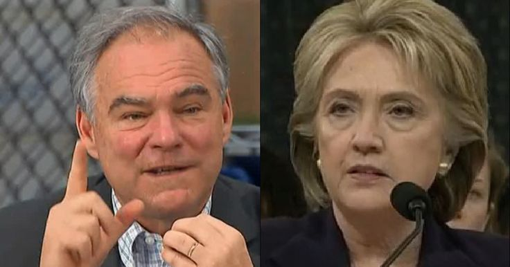 LOL: Look How Tim Kaine Just Threw Hillary Under The Bus! ...