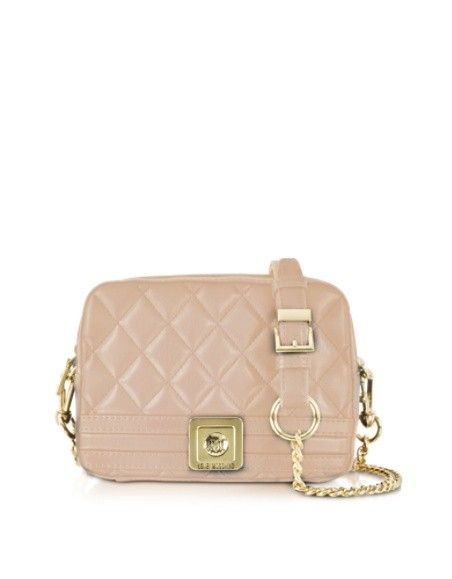LOVE MOSCHINO QUILTED ECO LEATHER CROSSBODY BAG