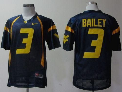 41a0c5f15 ... shopping mountaineers 3 stedman bailey navy blue stitched ncaa jersey  fe8b5 e7092