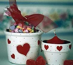 Flower Pot Craft Patterns | Patricia's Pots - Valentine Flower Pot Ideas