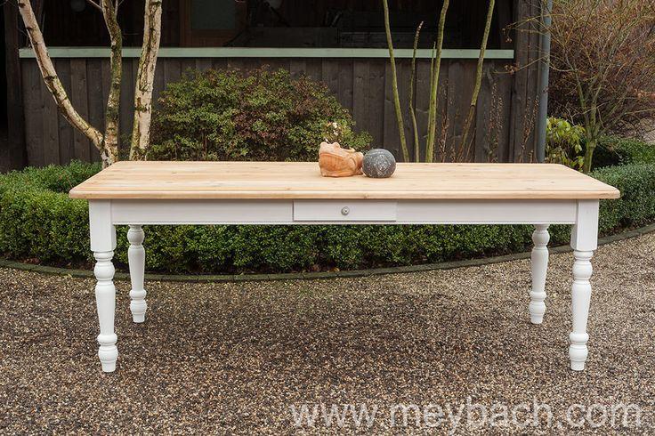 Esstisch Tisch Massivholz Küchentisch Landhaus 220 cm mod.03 weiss/natur Neu