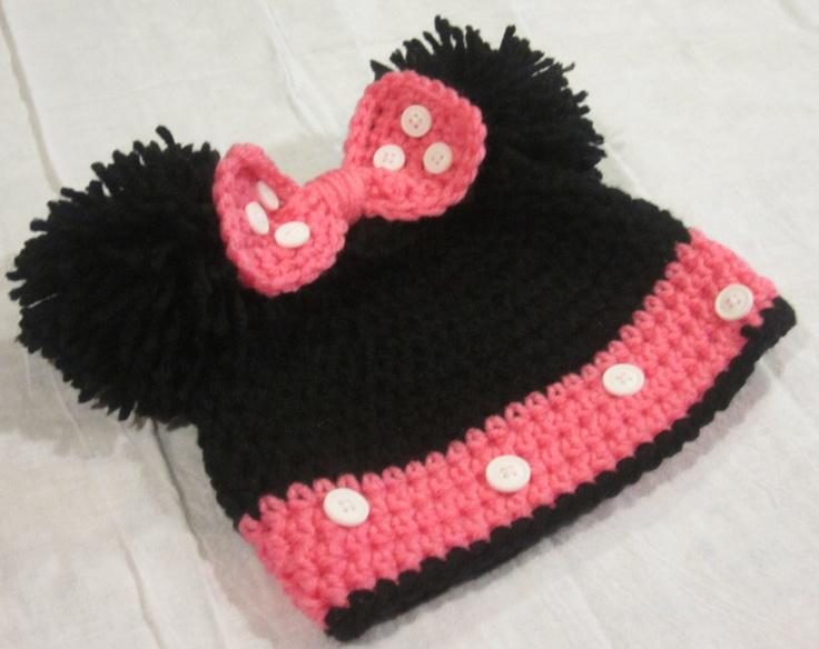 Crochet Minnie Mouse Hat. Inspiration!