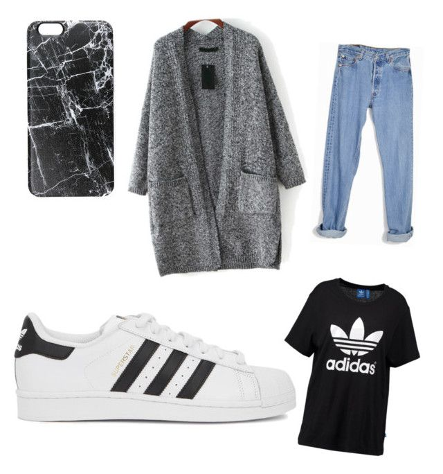 """chill"" by tereza-99 on Polyvore featuring interior, interiors, interior design, home, home decor, interior decorating, Levi's, Casetify and adidas Originals"