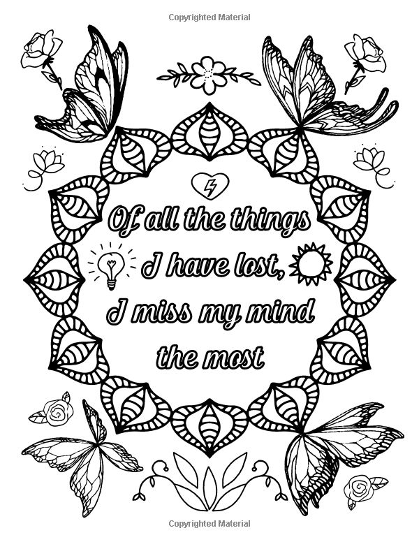 The Almost Adulting Book of Coloring 30 Funny Quotes