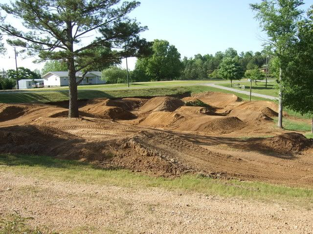Awesome little backyard track for our dirt bikes & four wheelers