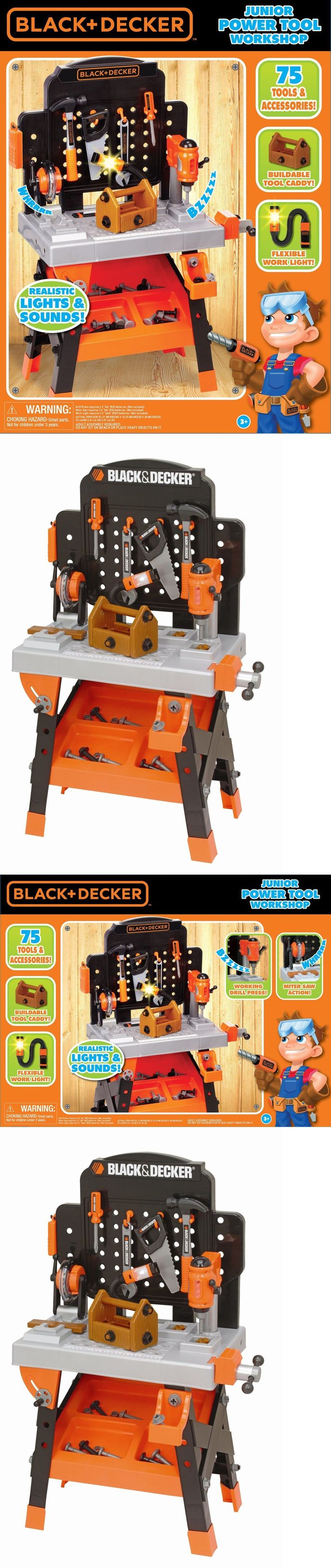 Tool Sets 158747: Black Decker Kids Tool Set Toy Workshop Power Tools Box Bench Pretend Play -> BUY IT NOW ONLY: $84.91 on eBay!