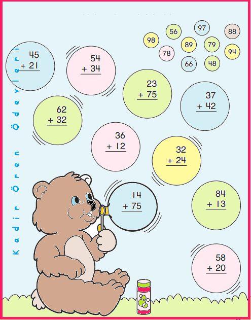 ilkokul ödevleri: 2. sınıf toplama işlemi