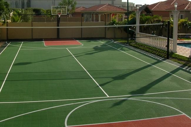 17 best images about outdoor basketball courts hoops on for Custom basketball court cost