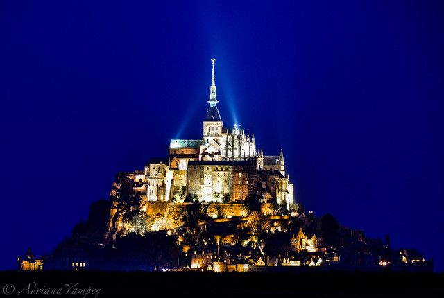 Mont Saint-Michel Le Mont Saint Michel, France We arrived at Mont Saint Michel in the evening after driving half the day with two small kids in the car. I was tired, hungry and yet, when I saw Mont Saint Michel in the gorgeous blue hour light I.