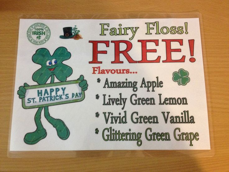 St Pat's Day Fairy Floss Flavours