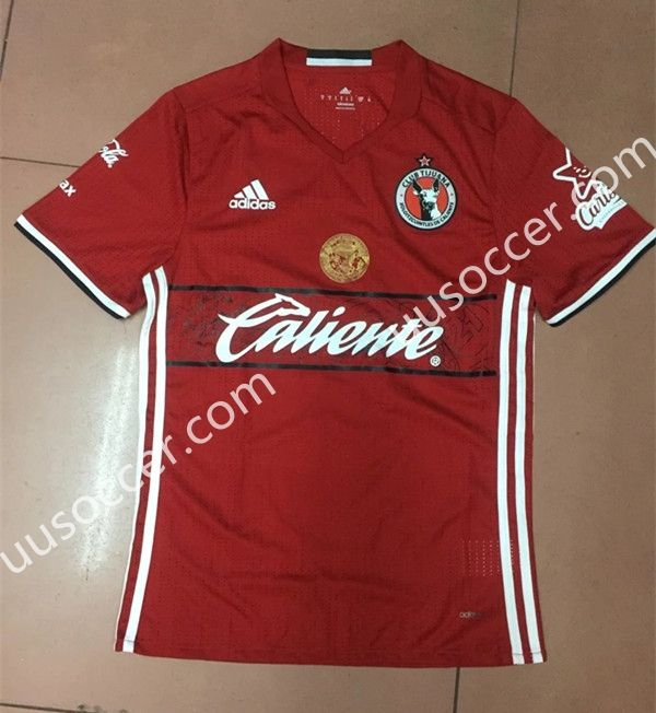 2016-17 Club Tijuana Home Red Thailand Soccer Jersey AAA