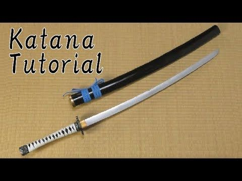 EVA foam Katana tutorial - Samurai sword [How to make props