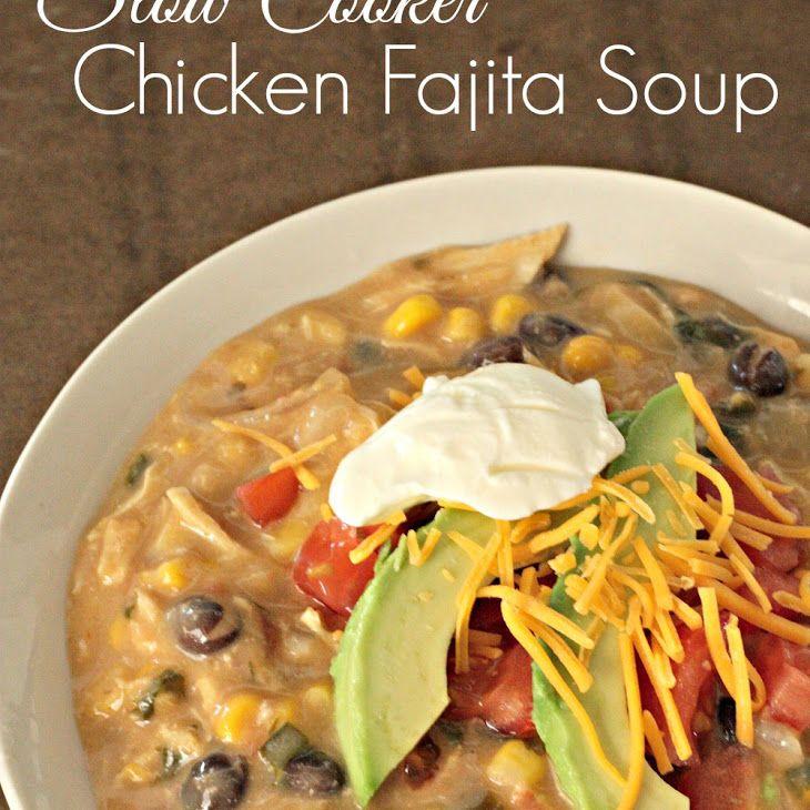 Slow Cooker Creamy Chicken Fajita Soup Recipe Soups, Main ...