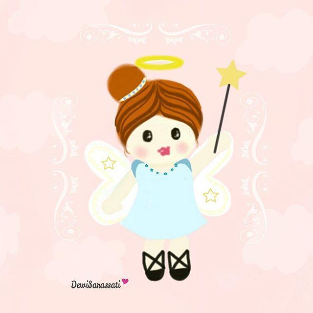 """""""Cute Little Angel"""".I love Pink !!!!!!! Instagram photo by @dewisarassati13"""