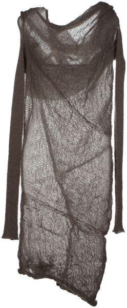 Alessandra Marchi Kneelength Dress in Khaki | Lyst