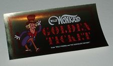 1971 Willy Wonka Candy Kit Order Form Golden Ticket - UNUSED! Quaker Cereal