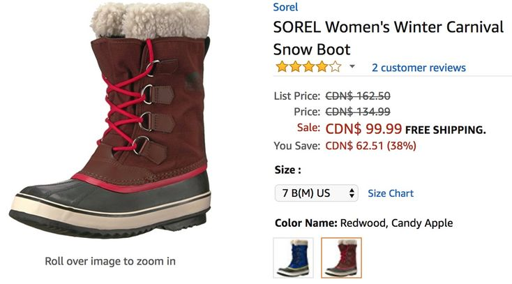 Amazon Canada Deals: Save 38% on SOREL Womens Winter Carnival Snow Boot https://www.lavahotdeals.com/ca/cheap/amazon-canada-deals-save-38-sorel-womens-winter/302882?utm_source=pinterest&utm_medium=rss&utm_campaign=at_lavahotdeals&utm_term=hottest_12