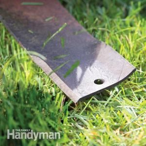 How to sharpen ~~ a lawn mower blade by hand.