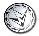 Mit Metallic-Silber bedruckte und gestanzte Karte, kreisrund