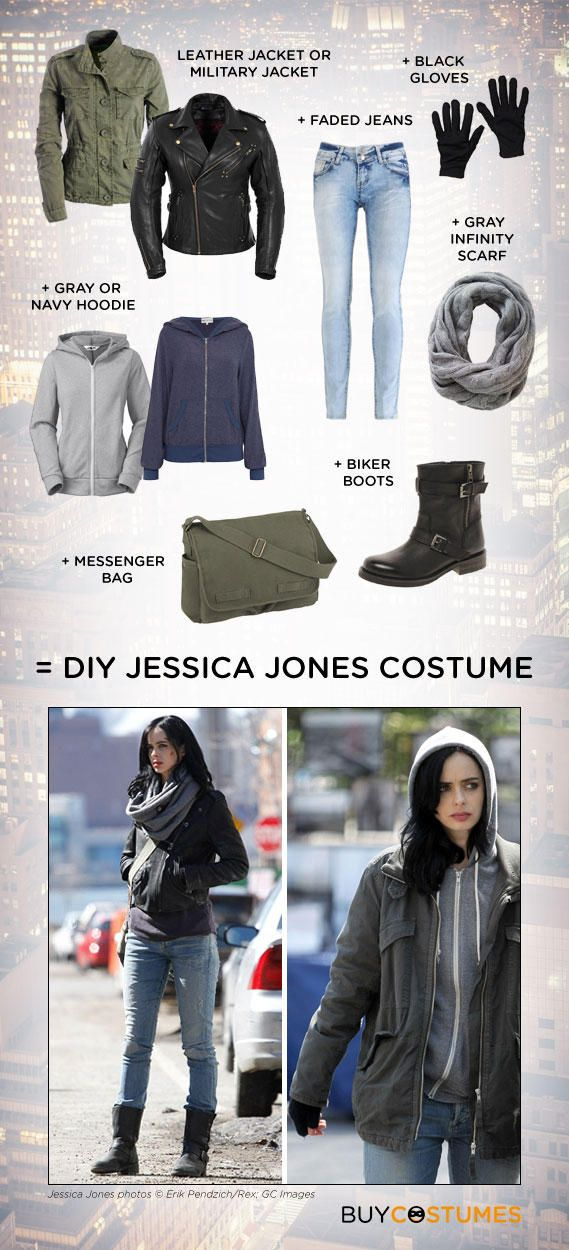 Get the look of Netflix's newest Marvel superhero star, Jessica Jones, with this quick and easy DIY costume tutorial.