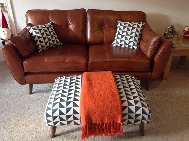 Zinc Leather 3 Seater Sofa I Mydfs Http Www Dfs