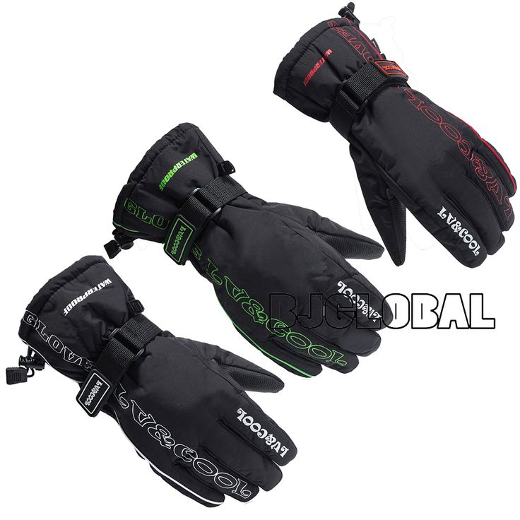 buy hot winter motorcycle gloves racing waterproof windproof leather cycling bicycle cold guantes #winter #cycling #gloves