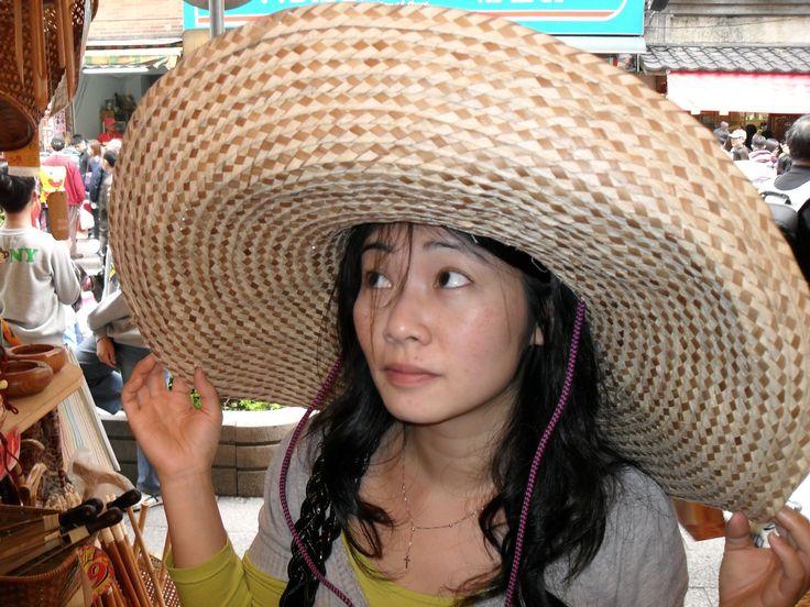 Vivian in hat in Tapipei 2010