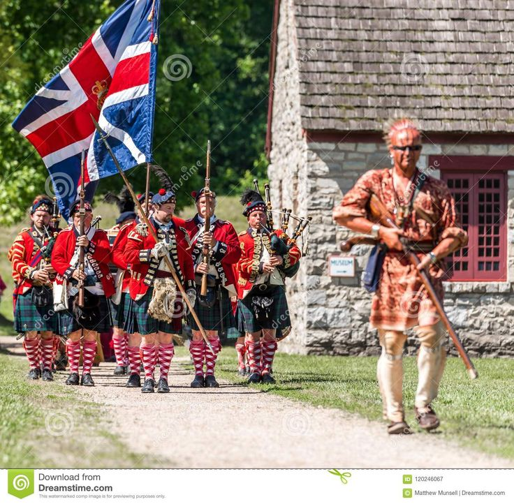 Scottish colonial bagpipes Parade festivies opening the