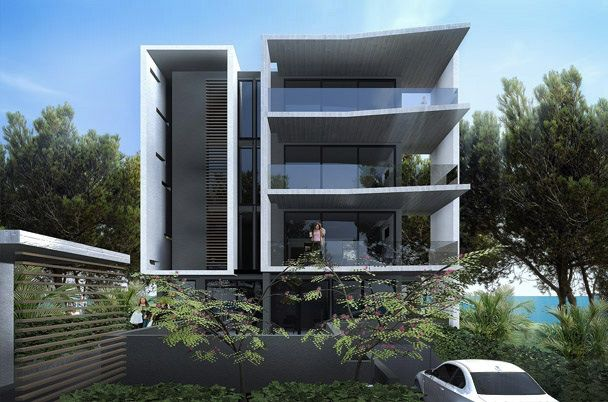 Waterfront Apartment block contemporary