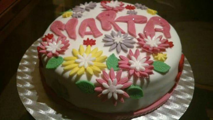 Tarta flores para Marta