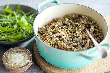Leftover chicken, barley and mushroom risotto – Recipes – Bite