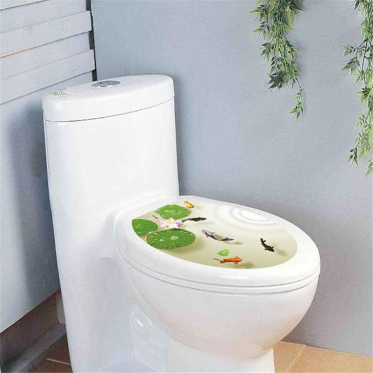 Fish & Lilypad Toilet 33x39cm Lid Sticker   Free Worldwide Shipping!  Only $5.58    Order from: www.happycozyhome.com